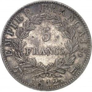 Premier Empire / Napoléon Ier (1804-1814). 5 francs Empire 1812, R, Rome.