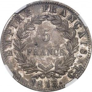 Premier Empire / Napoléon Ier (1804-1814). 5 francs Empire 1813, CL, Gênes.