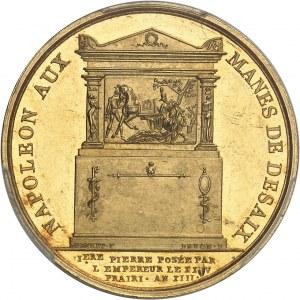 Premier Empire / Napoléon Ier (1804-1814). Médaille d'Or, pose de la première pierre du tombeau de Desaix au Mont Saint-Bernard par Napoléon le 14 juin 1805 1805, Paris.