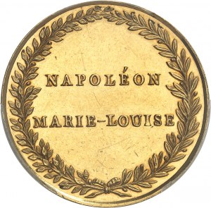 Premier Empire / Napoléon Ier (1804-1814). Médaille d'Or, entrée de l'Impératrice en France 1810, Paris.