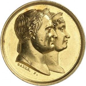 Premier Empire / Napoléon Ier (1804-1814). Médaille d'Or du mariage de Napoléon Ier et de Marie-Louise d'Autriche par Galle et Droz 1810, Paris.