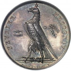 Premier Empire / Napoléon Ier (1804-1814). Médaille, les victoires de Février 1814, Paris.