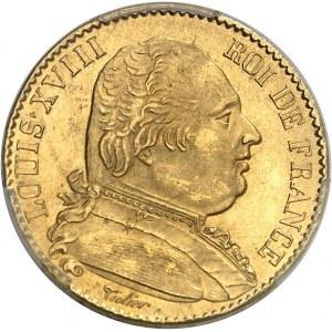 Louis XVIII (1814-1824). 20 francs buste habillé 1815, A, Paris.