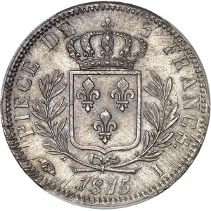 Louis XVIII (1814-1824). 5 francs buste habillé 1815, I, Limoges.