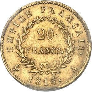 Cent-Jours / Napoléon Ier (mars-juillet 1815). 20 francs Empire 1815, A, Paris.