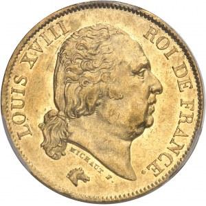 Louis XVIII (1814-1824). 40 francs 1820/10, A, Paris.