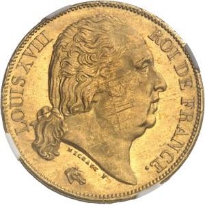 Louis XVIII (1814-1824). 20 francs tête nue 1816, A, Paris.