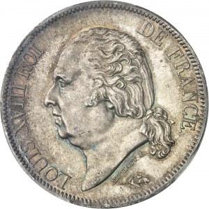 Louis XVIII (1814-1824). 5 francs buste nu 1819, A, Paris.