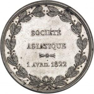 Louis XVIII (1814-1824). Jeton pour la fondation de la Société asiatique, le 1er avril 1822 par Depaulis 1822, Paris.