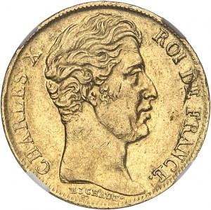 Charles X (1824-1830). 20 francs 1829, W, Lille.