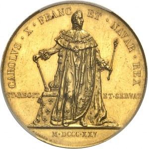 Charles X (1824-1830). Médaille d'Or, sacre du Roi à Reims pour les parlementaires, transformée postérieurement en médaille de mariage 1824-1876, Paris.