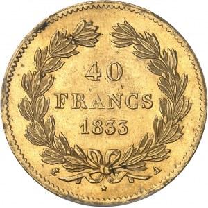 Louis-Philippe Ier (1830-1848). 40 francs tête laurée 1833, A, Paris.