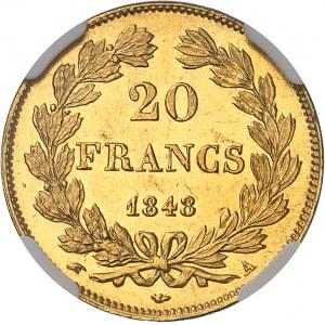 Louis-Philippe Ier (1830-1848). 20 francs tête laurée 1848, A, Paris.