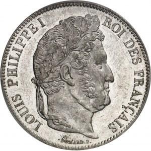 Louis-Philippe Ier (1830-1848). 5 francs Domard 1837, A, Paris.