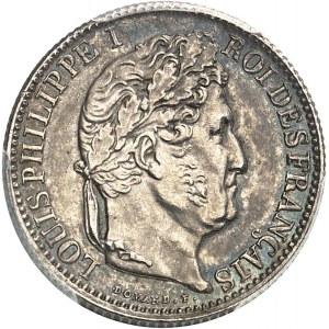 Louis-Philippe Ier (1830-1848). Piéfort de 50 centimes tête laurée 1845, B, Rouen.