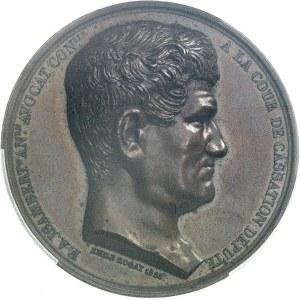 Louis-Philippe Ier (1830-1848). Médaille, F. A. Isambert et la fondation de la Société française pour l'abolition de l'esclavage, par Émile Rogat 1838, Paris.