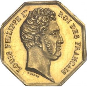 Louis-Philippe Ier (1830-1848). Jeton en Or du Conseil privé des colonies françaises par Dubois et Caqué ND (1830-1831), Paris.