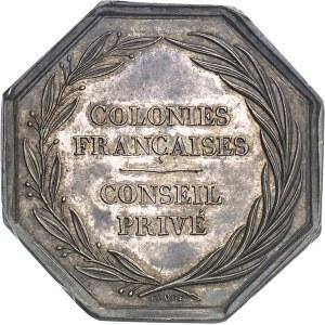 Louis-Philippe Ier (1830-1848). Jeton du Conseil privé des colonies françaises par Dubois et Caqué ND (1832-1841), Paris.