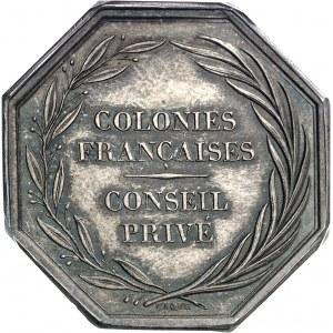 Louis-Philippe Ier (1830-1848). Jeton du Conseil privé des colonies françaises par Dubois et Caqué ND (après 1880), Paris.