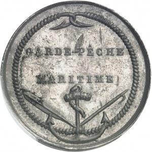 Louis-Philippe Ier (1830-1848). Épreuve de jeton de garde-pêche maritime du Ministère de la Marine et des Colonies ND (2e quart XIXe s. ?), Paris.