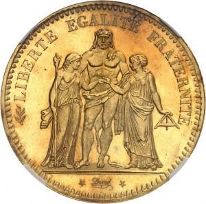 IIe République (1848-1852). Épreuve en Or de 5 francs Hercule 1848, A, Paris.