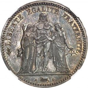 IIe République (1848-1852). 5 francs Hercule, Flan bruni (PROOF) 1849, A, Paris.