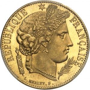 IIe République (1848-1852). 20 francs Cérès Flan bruni (PROOF) 1850, A, Paris.