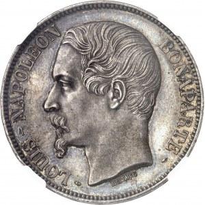 IIe République (1848-1852). 5 francs Louis-Napoléon Bonaparte, Flan bruni (PROOF) 1852, A, Paris.