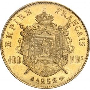 Second Empire / Napoléon III (1852-1870). 100 francs tête nue 1856, A, Paris.