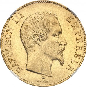 Second Empire / Napoléon III (1852-1870). 100 francs tête nue 1859, BB, Strasbourg.