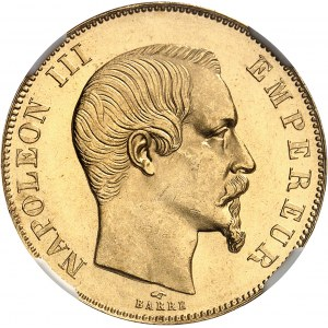 Second Empire / Napoléon III (1852-1870). 50 francs tête nue 1857, A, Paris.