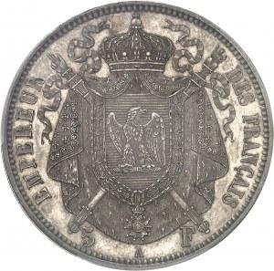 Second Empire / Napoléon III (1852-1870). Essai de 5 francs tête nue, grosse tête, par Barre 1853, A, Paris.