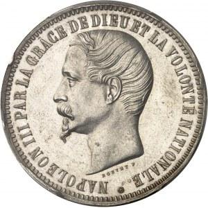 Second Empire / Napoléon III (1852-1870). Essai de 5 francs tête nue par Bouvet 1853, Paris.