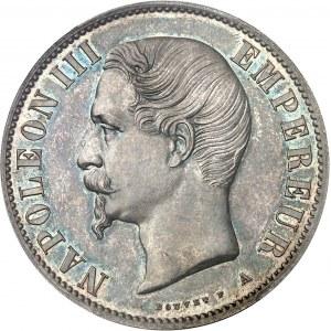 Second Empire / Napoléon III (1852-1870). Essai de 5 francs tête nue, tranche lisse 1853, A, Paris.