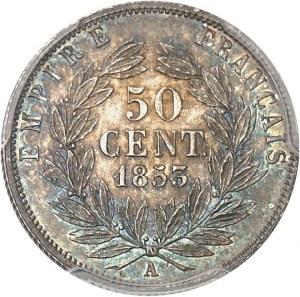 Second Empire / Napoléon III (1852-1870). 50 centimes tête nue 1853, A, Paris.