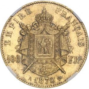 Second Empire / Napoléon III (1852-1870). 100 francs tête laurée 1870, A, Paris.