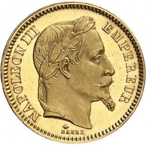 Second Empire / Napoléon III (1852-1870). 20 francs tête laurée, Flan bruni (PROOF) 1861, A, Paris.