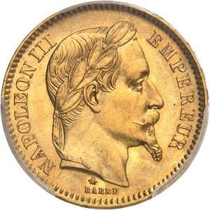 Second Empire / Napoléon III (1852-1870). 20 francs tête laurée 1865, A, Paris.