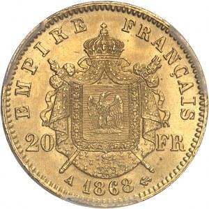 Second Empire / Napoléon III (1852-1870). 20 francs tête laurée 1868, A, Paris.