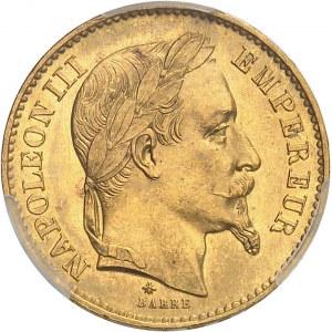 Second Empire / Napoléon III (1852-1870). 20 francs tête laurée 1870, A, Paris.