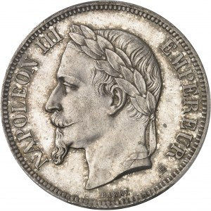 Second Empire / Napoléon III (1852-1870). 5 francs tête laurée, petit BB 1869, BB, Strasbourg.