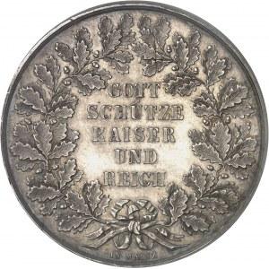 Second Empire / Napoléon III (1852-1870). Double thaler ou module de 2 thalers, hommage de Ferdinand Korn ND (c.1860), Francfort-sur-le-Main.