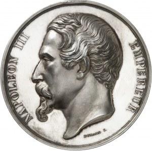 Second Empire / Napoléon III (1852-1870). Médaille, Exposition de Dijon, avec attribution au baron Thénard 1853, Paris.