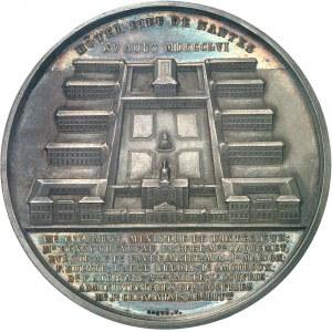 Second Empire / Napoléon III (1852-1870). Médaille, lancement de la construction de l'Hôtel-Dieu de Nantes 1856, Paris.