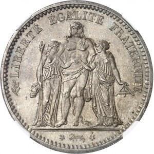 Gouvernement de Défense Nationale (1870-1871). 5 francs Hercule, Camélinat 1871, A, Paris.