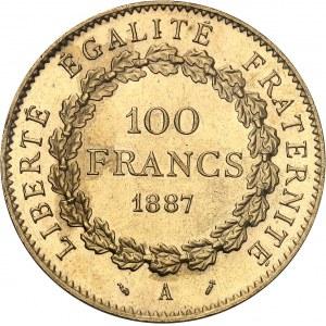 IIIe République (1870-1940). 100 francs Génie 1887, A, Paris.