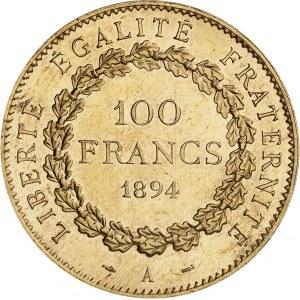 IIIe République (1870-1940). 100 francs Génie 1894, A, Paris.