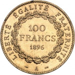 IIIe République (1870-1940). 100 francs Génie, aspect Flan bruni (Prooflike) 1896, A, Paris.