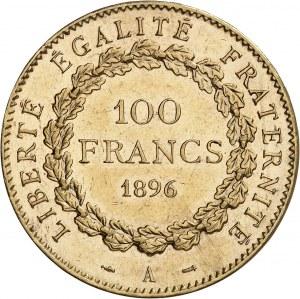IIIe République (1870-1940). 100 francs Génie 1896, A, Paris.
