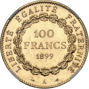 IIIe République (1870-1940). 100 francs Génie 1899, A, Paris.